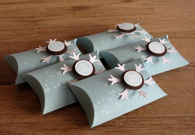 Pillow Box Basteln winterliche pillow box zeit zum bastelnzeit zum basteln