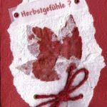 Karten aus handgeschöpftem Papier