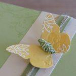 Schmetterlingskarte mit Papierperlen