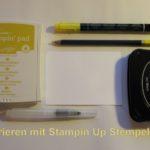 Anleitung – Kolorieren mit Stampin Up Stempelfarben