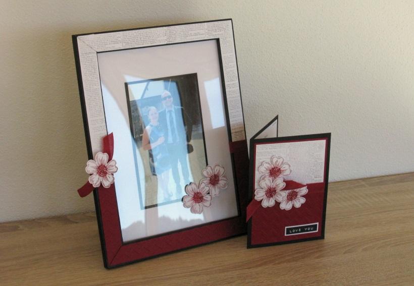 flower power passender bilderrahmen zeit zum bastelnzeit zum basteln. Black Bedroom Furniture Sets. Home Design Ideas