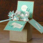 Card in a box zur Taufe