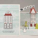 Winterliche Stufenkarte mit Anleitung