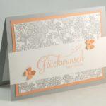 Zarte Hochzeitskarte