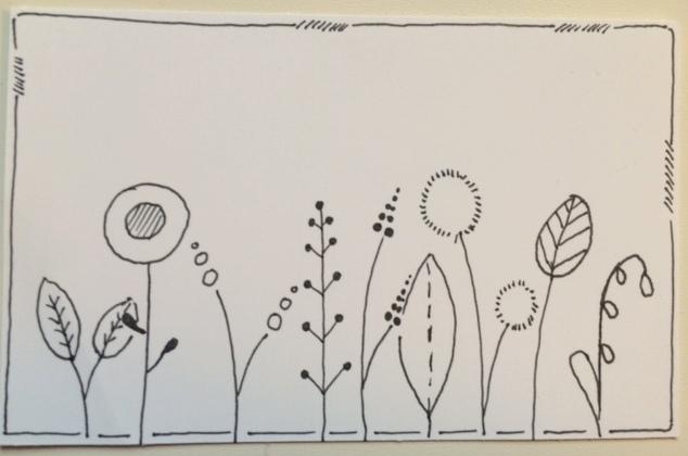 doodle blumenwiese