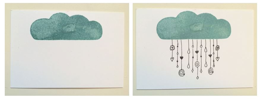 doodle wolke
