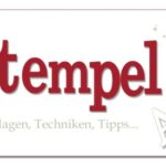 Stempel-ABC – Fine-Tip Glue Pen Resist-Technik