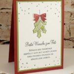 Weihnachtskarte mit Twist
