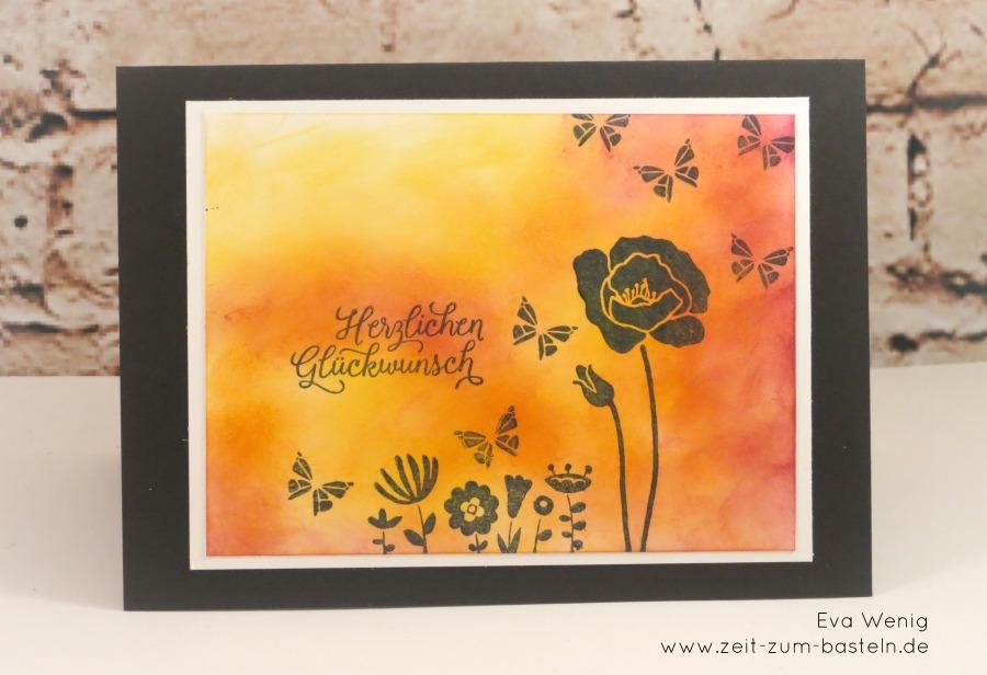 Flirty Flowers - Karte mit Schattenblumen