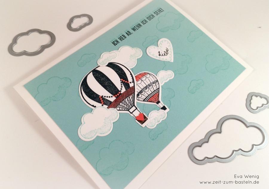Karte Ich heb ab, wenn ich Dich seh - mit Heißluftballons Stampin up