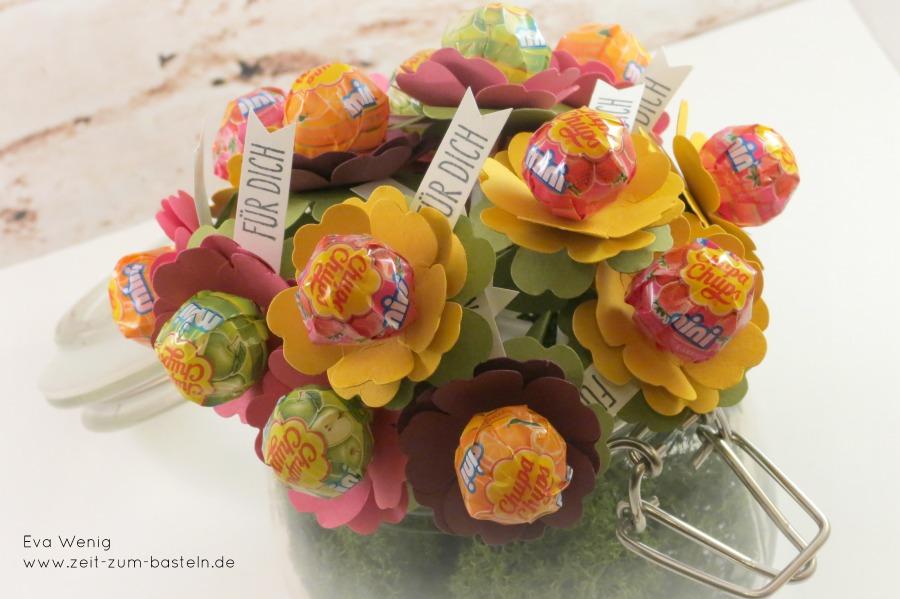 Blumenlutscher mit der Stanze Stiefmütterchen, Perfekt für den Kindergeburtstag
