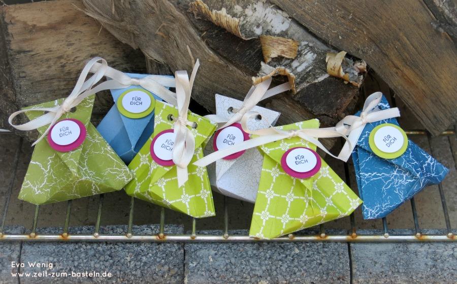 www.zeit-zum-basteln.de - schnelle Origami Tüten Stampin up