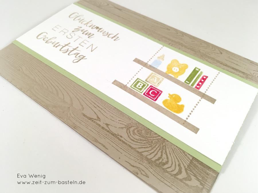 Karte zum ersten Geburtstag - Stampin Up Bookcase Builder