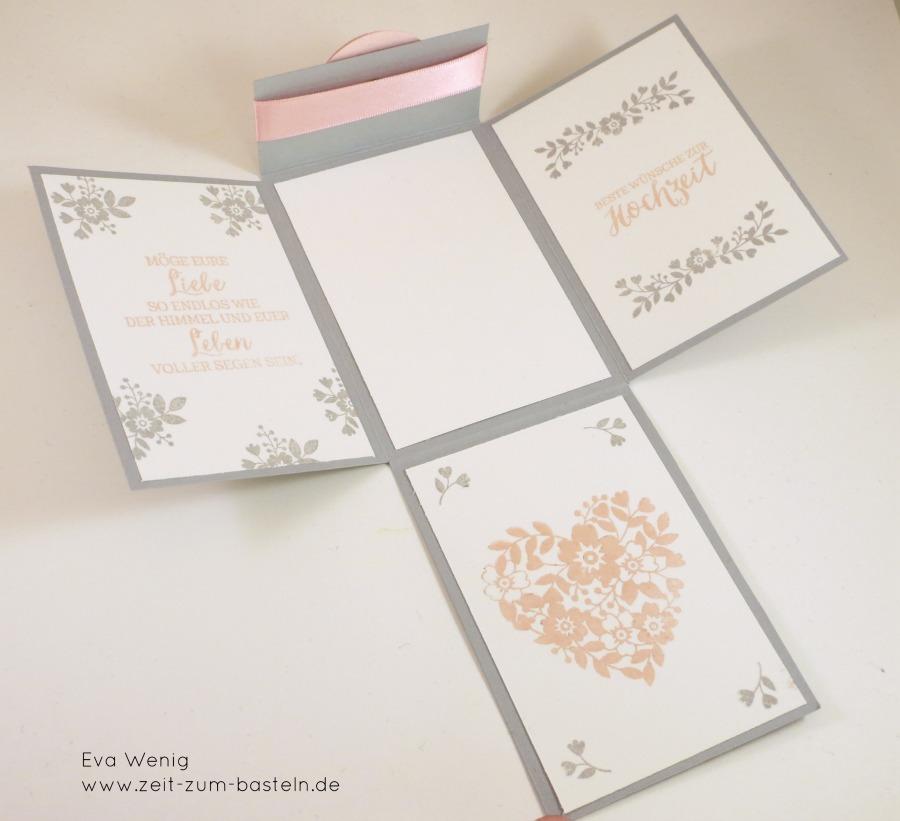 www.zeit-zum-basteln.de - Klappkarte zur Hochzeit - Magnetverschluss (Stampin up)