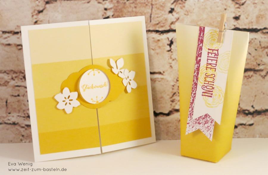 www.zeit-zum-basteln.de - Sommerliches Set mit Karte und Box in a bag