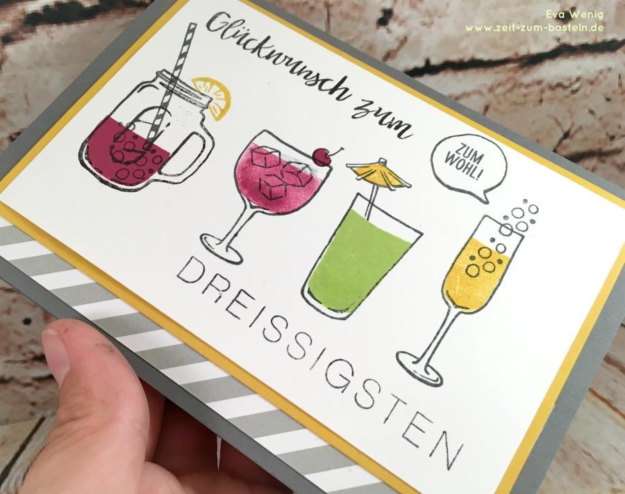www.zeit-zum-basteln.de - Karte zum runden Geburtstag für einen Mann (Stampin Up)