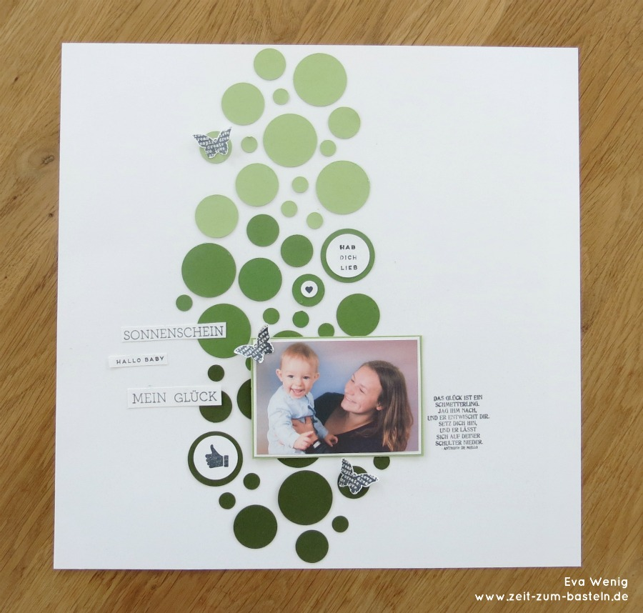 www.zeit-zum-basteln.de - Reste-Verwendung mit Kreisstanzen - Scrapbook (Stampin Up)