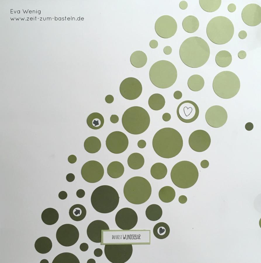 www.zeit-zum-basteln.de - Resteverwendung mit Kreisstanzen - Scrapbook (Stampin Up)
