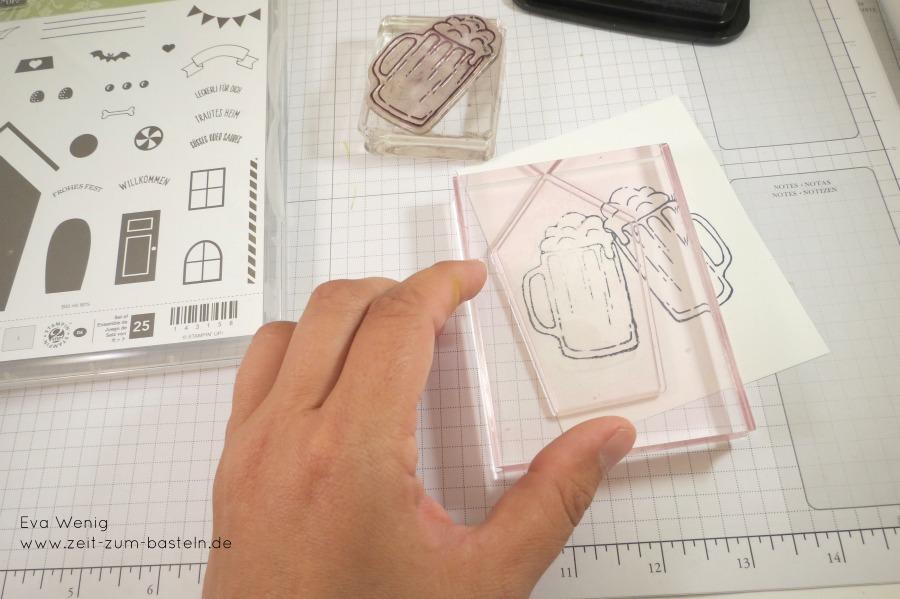www.zeit-zum-basteln.de - anstoßende Biergläser - Spiegeltechnik Stampin Up
