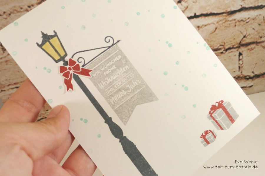 www.zeit-zum-basteln.de - Weihnachtliche Laterne - Weihnachten im Lichterschein (Stampin Up)