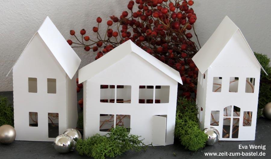 Freebie - Haus für Leuchtdeko im Winter - als PDF und Free SVG - www.zeit-zum-basteln.de