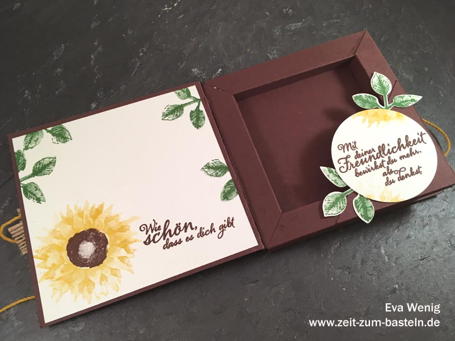 Rahmenkarte mit Sonnenblumen (Stampin Up Herbstanfang) - www.zeit-zum-basteln.de