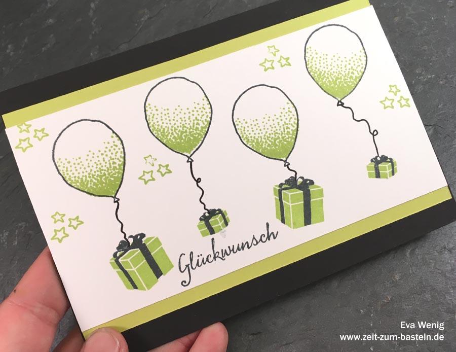 Fliegende Geschenke (Stampin Up Partyballons, Weihnachten im Lichterschein) - www.zeit-zum-basteln.de