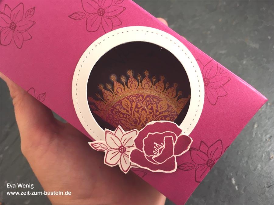 Verpackung für Pflegebäder mit Guck-Loch (Stampin Up Flirty Flowers) - www.zeit-zum-basteln.de