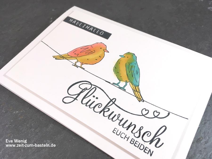 Farbenfroh - Glückwunschkarte für zwei mit den Stampin Blends - Stampin up - www.zeit-zum-basteln.de