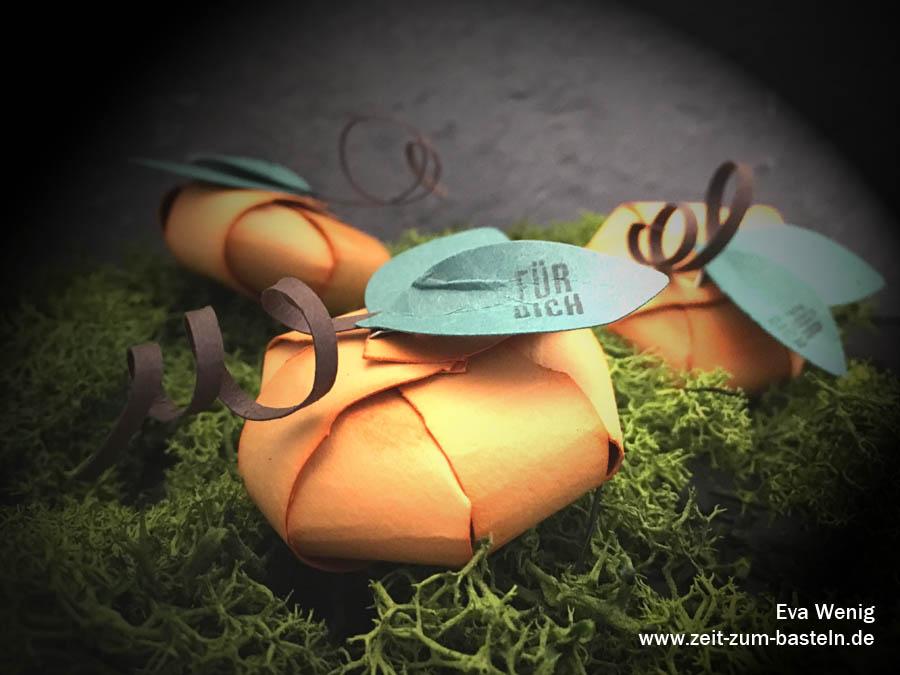 Papier-Deko für Halloween - Kürbisse mit dem Envelope Punch Board - (Stampin Up) - www.zeit-zum-basteln.de