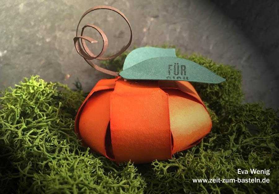 Herbstliche Papier-Deko - Kürbisse mit dem Envelope Punch Board - (Stampin Up) - www.zeit-zum-basteln.de