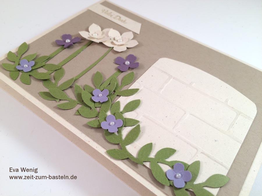Karte als Dankeschön für unseren Brunnen - www.zeit-zum-basteln.de