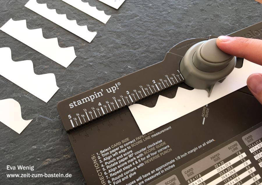 Anleitung zum Wellen-Stanzen mit dem EPB - Envelope Punch Board (Stampin Up) - www.zeit-zum-basteln.de