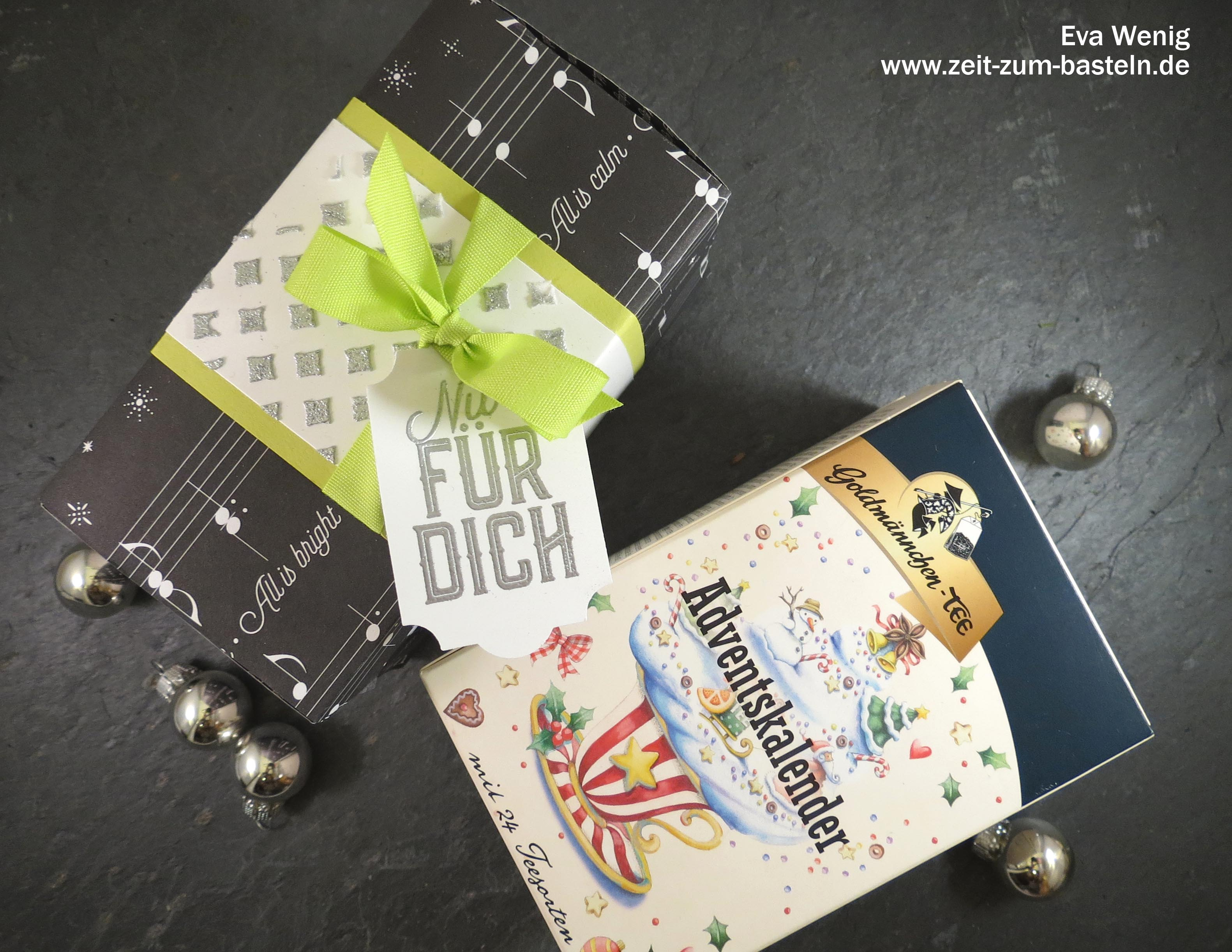 Tee Adventskalender - Stampin Up (Weihnachtliche Etiketten) - www.zeit-zum-basteln.de