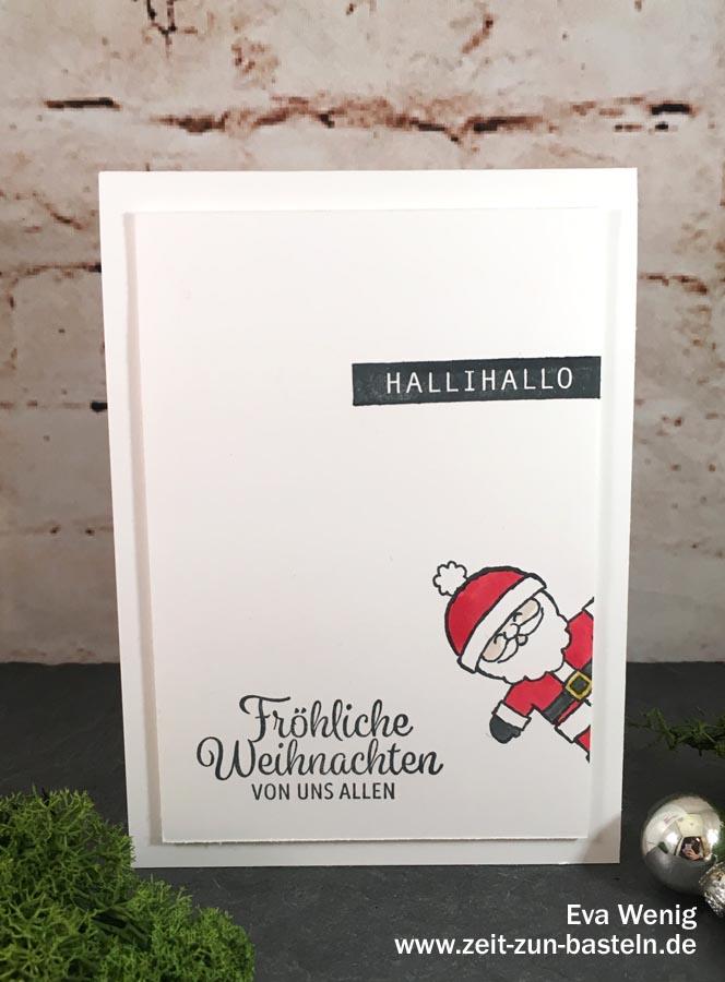 Fröhliche Karte 'Weihnachtliches Hallihallo' - Stampin Up - www.zeit-zum-basteln.de