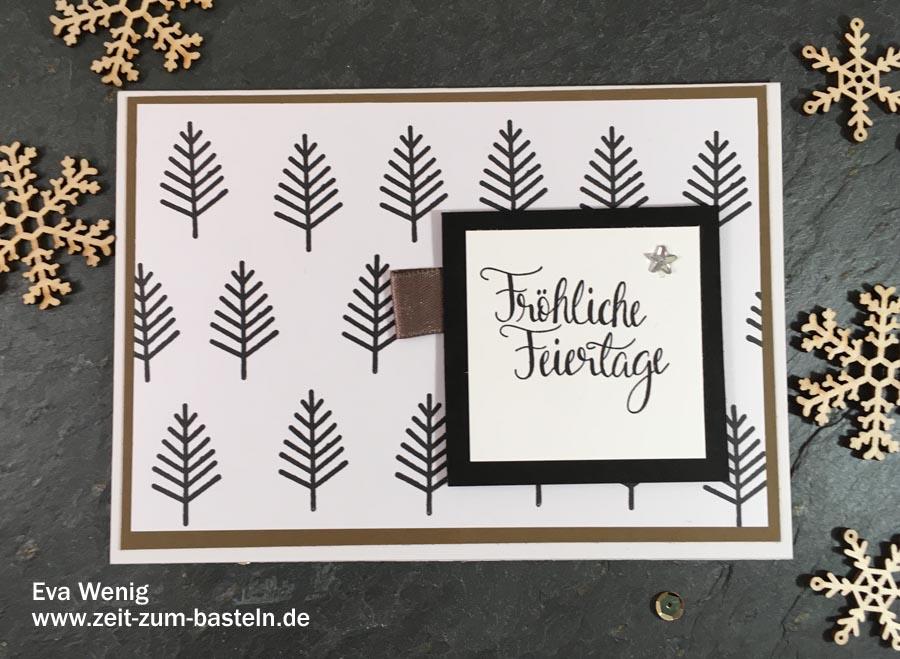 Meine Weihnachtspost 2017 - Eine schöne Tradition selbstgemachte Karten zu verschicken - www.zeit-zum-basteln.de