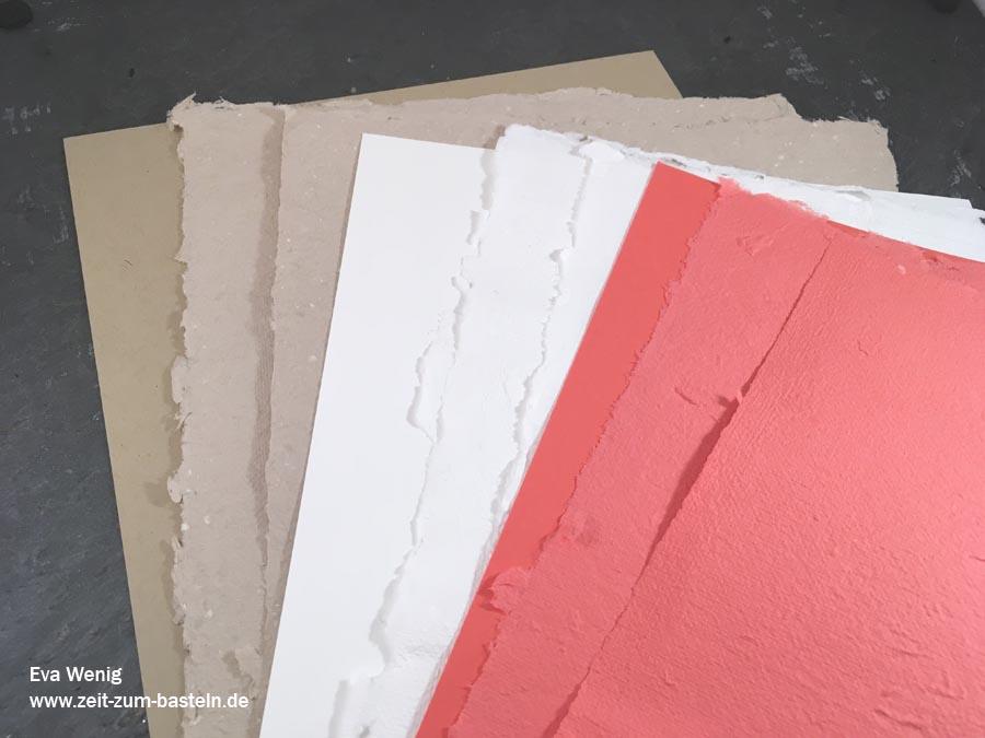 handgeschöpftes Papier in Stampin Up Farben - die beste Art Reste zu verbrauchen! - www.zeit-zum-basteln.de