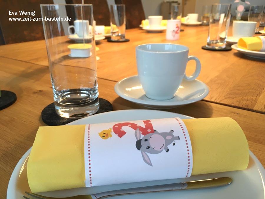 Meine Deko zum Kindergeburtstag mit dem Esel von Rossmann - www.zeit-zum-basteln.de