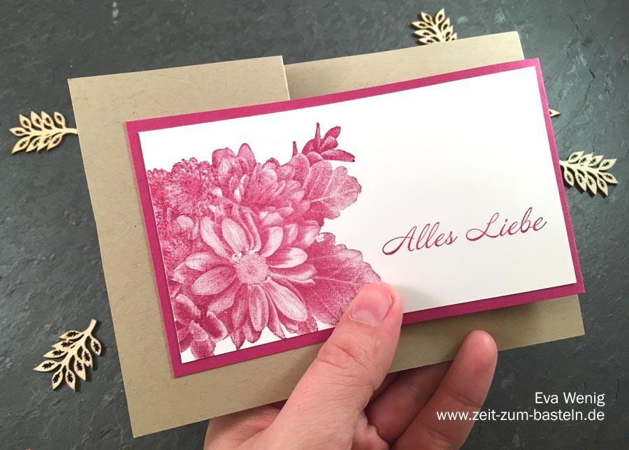 Alles Liebe - Karte in Z-Fold mit Blumen von Herzen - Stampin up - www.zeit-zum-basteln.de