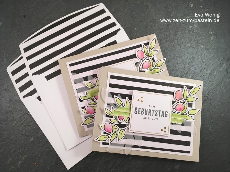 Karten mit Kartenset Gruß + Glück incl. Video Tutorial - Stampin up - www.zeit-zum-basteln.de