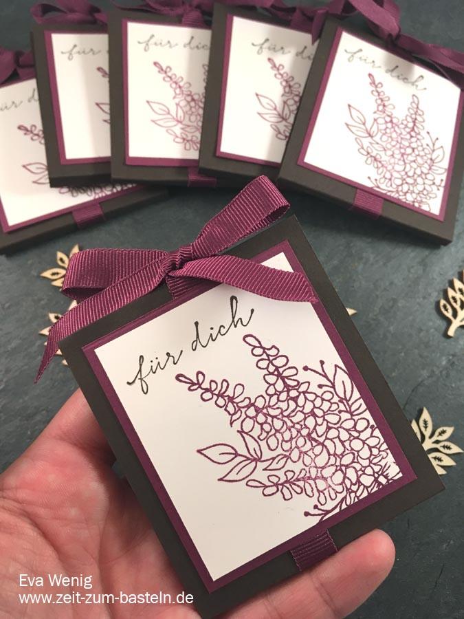 kleines schnelles Teegeschenk mit Lots of Lavender von Stampin Up - www.zeit-zum-basteln.de