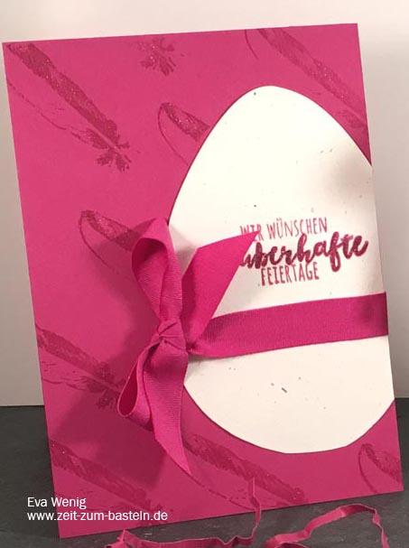 zauberhafte Osterkarte mit 'Zur Feder gegriffen' - Stampin Up - www.zeit-zum-basteln.de