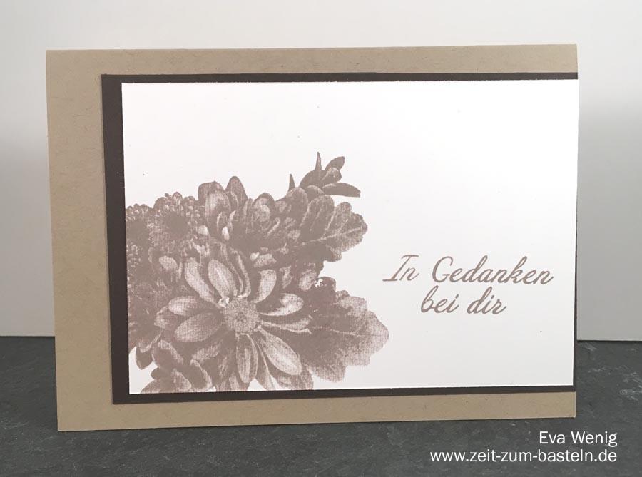 schnelle, stilvolle Trauerkarten mit 'Blumen von Herzen' (Stampin Up) - www.zeitz-zum-basteln.de