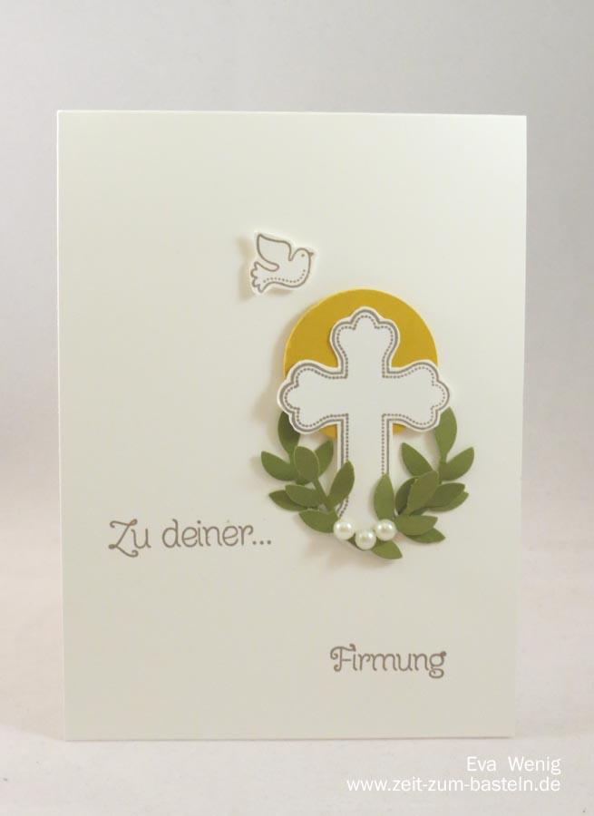 Simple Karten zur Firmung für Mädchen & Jungen - Stampin Up - www.zeit-zum-basteln.de
