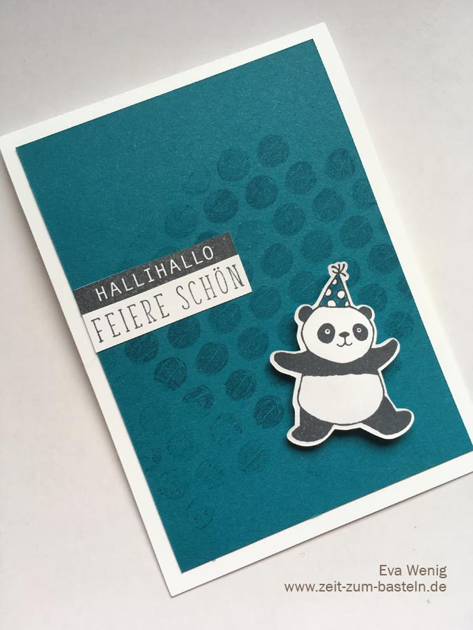 Party-Panda mit Luftpolsterfolien-Hintergrund - Video-Tutorial - Stampin Up - www.zeit-zum-basteln.de