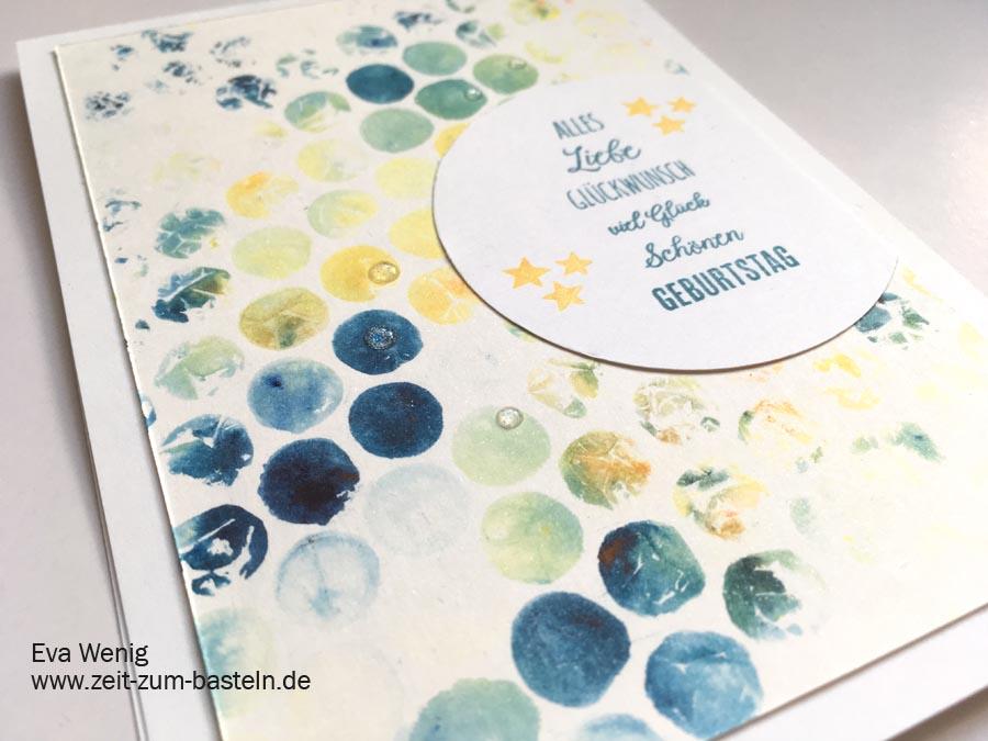 Brusho Crystal Colors und Luftpolsterfolie sind eine tolle Kombi - Video-Tutorial - Stampin Up - www.zeit-zum-basteln.de