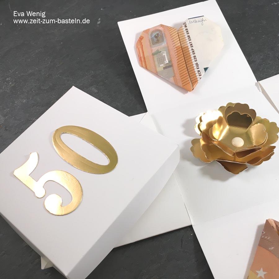 Explosionbox zur goldenen Hochzeit - Stampin Up - www.zeit-zum-basteln.de