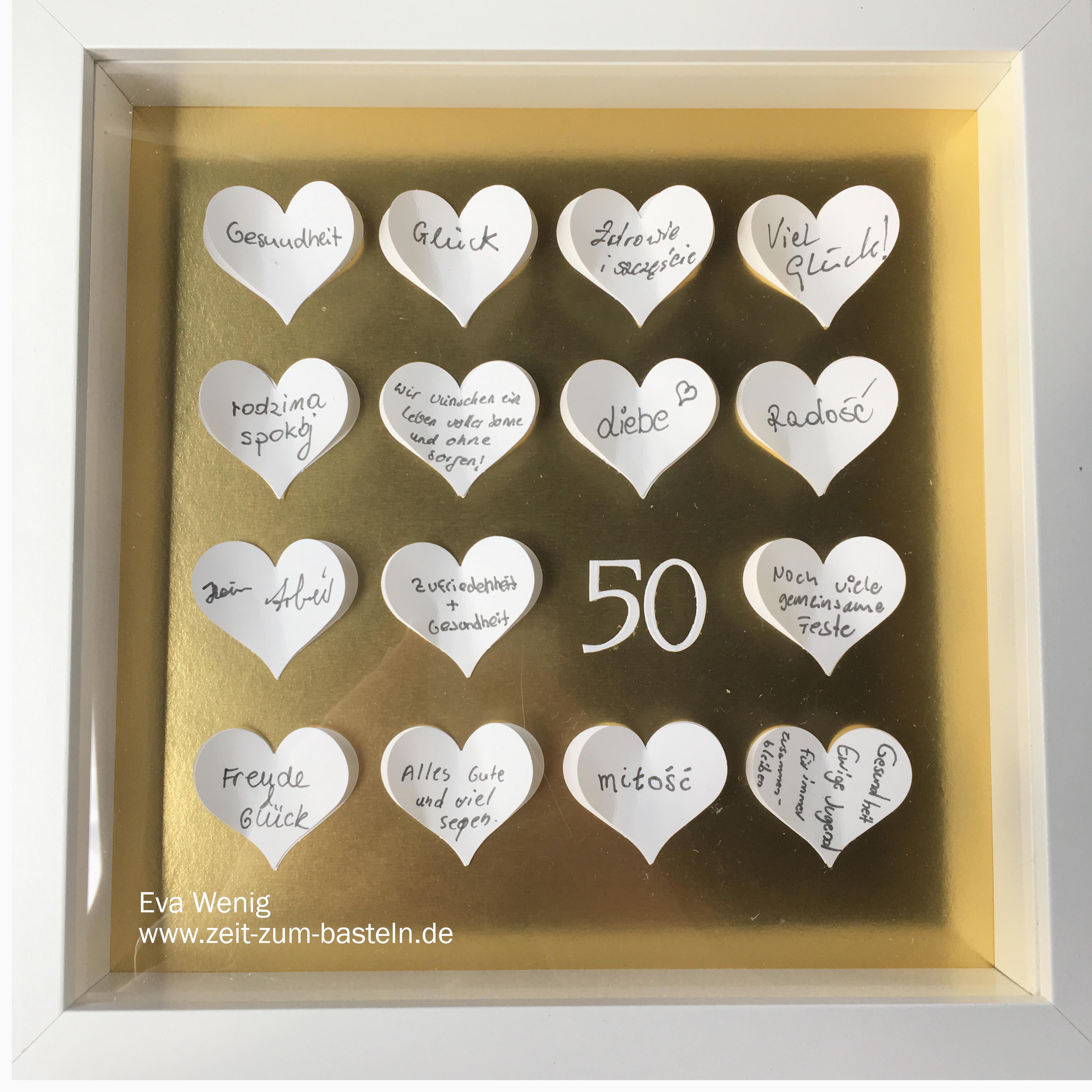 goldene hochzeit 50 wunderbare jahre zeit zum bastelnzeit zum basteln. Black Bedroom Furniture Sets. Home Design Ideas