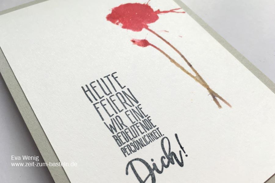 Schlichte Karte zum Muttertag - Für eine besondere Persönlichkeit - Stampin Up - www.zeit-zum-basteln.de