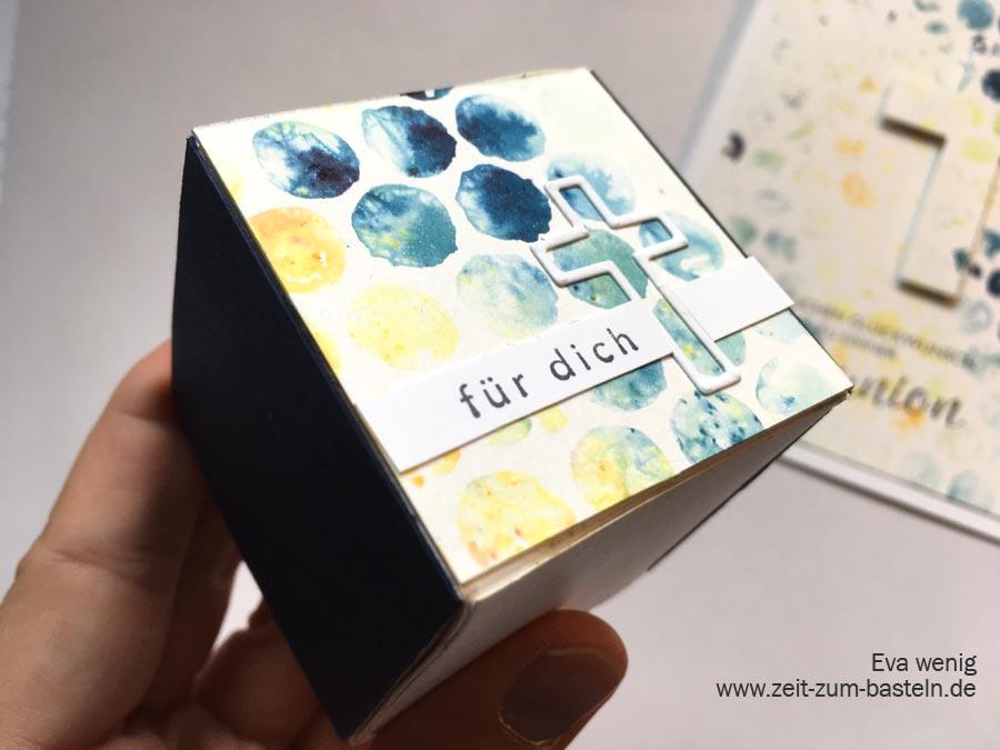 Geschenkschachtel zur Kommunion für Jungs mit der bubble wrap Technik - Stampin Up Segenswünsche - www.zeit-zum-basteln.de